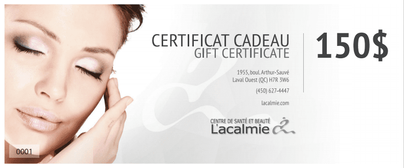 Gift Certificate - 150$